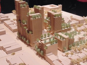 Westbank's initial concept for Bloor and Bathurst streets includes a cluster of buildings at varying heights. Photo: Brian Burchell, Gleaner News