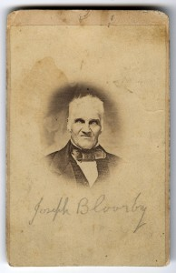 Portrait of Joseph Bloore, 1850. Unknown photographer.