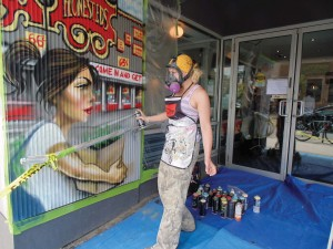 Aroma Cafe (500 Bloor St. W.) has hired Toronto-based graffiti artist Erica Balon to create a mural on its facade that features her signature cartoon-style characters. Balon's works have appeared in events such as LuminaTO and Manifesto, and were featured in Canada's first national exhibition of street art at the Royal Ontario Museum and the Art Gallery of Ontario. Many of her murals cover tags and gang-related symbols. Justine Ricketts/Gleaner News