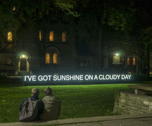 Art animated the Annex earlier this month as it hosted a variety of installations for Scotiabank Nuit Blanche on Oct. 3. Catherine Chan's I've Got Sunshine on a Cloudy Day (above), at 15 King's College Circle, is a literal and figurative representation of sunshine that asks: what brings light to darkness? Neiland Brissenden, Gleaner News
