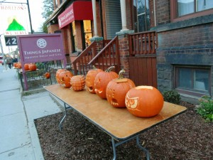 Harbord Village will once again be transformed into a pumpkin patch when the Pumpkin Festival returns to Harbord Street on Nov. 1 from 5:30 to 8:30 pm. Almost one thousand elaborately-carved candle-lit pumpkins will line the street for four blocks west of Spadina Avenue in the annual event co-sponsored by the Harbord Street Business Improvement Area and the Harbord Village Residents' Association. Brian Burchell, Gleaner News
