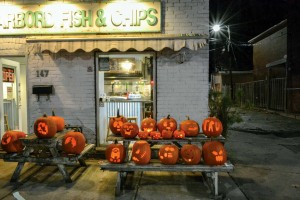 A patch of orange pitched up on the picnic tables in front of Harbord Fish & Chips beside Albert Jackson Lane for the popular Pumpkin Festival on Nov. 1. Sponsored by Wright Real Estate Brokerage, this annual event is presented through a partnership of the Habord Street BIA and the Harbord Village Residents' Association. Courtesy Graham Rempe