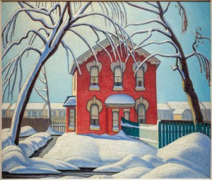 Red House, Winter by Lawren Harris. Courtesy Hart House