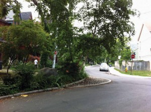 In-ground pinchpoint planters, like the one on Robert Street shown above, act as a curb extension, provide an immovable barrier that discourages drivers from making illegal manoeuvres, and are not subject to the graffiti found on their above-ground counterparts. COURTESY?SUSAN DEXTER