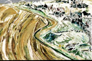 Landscape artist Jill Boschulte, who works from small planes, creates monoprints, water-coloured pencil drawings, and collages. Her Furrows (above) will feature at Art Zone during the Hop. COURTESY?ART?ZONE