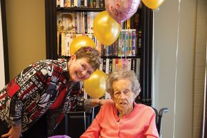 PHOTO BY GEREMY BORDONARO: Anne Rowbotham, shown above with her daughter Laurel, celebrated her 104th birthday at the Annex Retirement Residence. Rowbotham, who may be the oldest member of the community, grew up in Markham and joined the residence two years ago.
