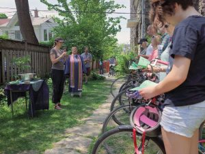 PHOTO COURTESY MARTIN REIS: Trinity-St. Paul's United Church celebrated its seventh annual Blessing of the Bikes on May 29. Cyclists had their bikes blessed in the church's garden after a service that included a special prayer for all those who have lost their lives in a bike accident.—Geremy Bordonaro/Gleaner News