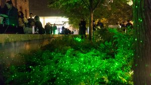 PHOTO BY NEILAND/BRISSENDEN: Gleaner art director Neiland Brissenden's annual chronicle of Nuit Blanche returns this month. In an installation at the Royal Conservatory of Music (RCM), Jody Naderi and John Fillwalk combined art and app to create The Firefly Effect.