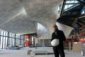 "PHOTO BY NEILAND BRISSENDEN/GLEANER NEWS: Architect Nader Tehrani (above) wanted to emphasize interconnectedness within and without in One Spadina. It was a challenge, he said, to ""design a building whose main audience are designers of urban landscape""."